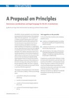 A Proposal on Principles: Governance considerations and legal language for the Art. 6 mechanisms