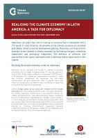 "Brief: ""Realising the Climate Economy in Latin America: a Task for Diplomacy"""