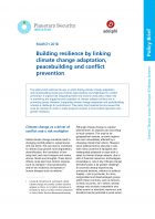 Linking climate change adaptation, peacebuilding and conflict prevention - adelphi