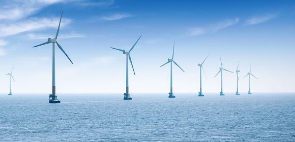 offshore wind farm in shanghai in the east China sea.