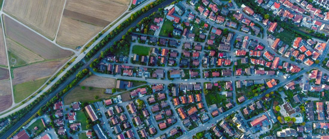 Suburbia from above - Ehningen, Germany