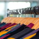 women clothing is hanged on the rack