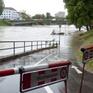 Floods in Ulm, river Danube