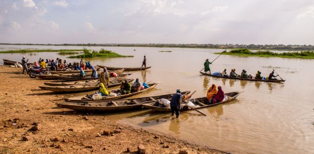 Boats on Lake Chad, Nigeria