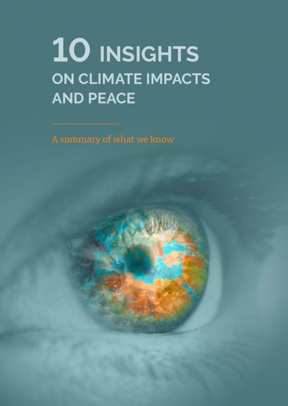 Cover: 10 Insights on Climate Impacts and Peace