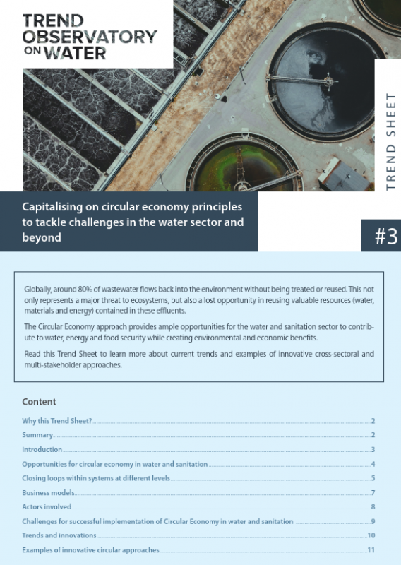 Capitalising on circular economy principles to tackle challenges in the water sector and beyond