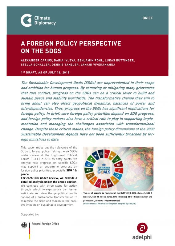 A Foreign Policy Perspective On The Sustainable Development Goals - adelphi