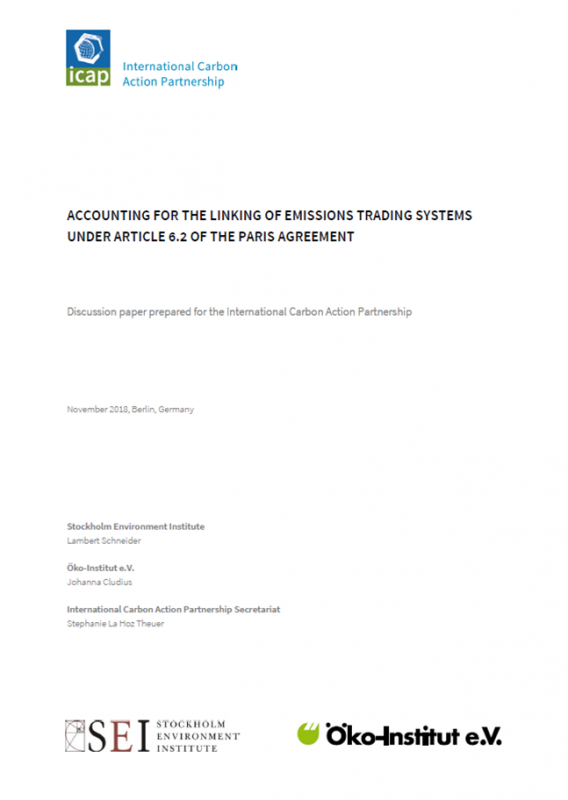 Accounting for the linking of emissions trading systems under Article 6.2 of the Paris Agreement - International Carbon Action Partnership ICAP.png