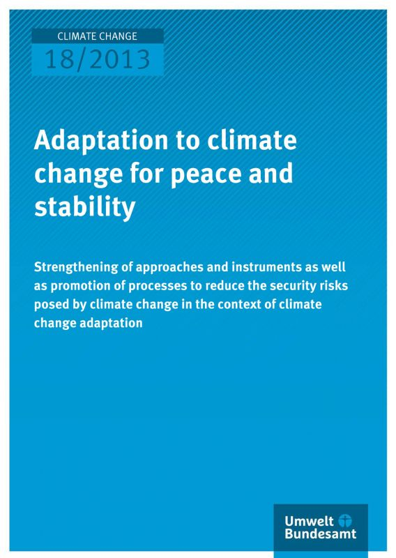 Titelbild Studie Adaptation to climate change for peace and stability