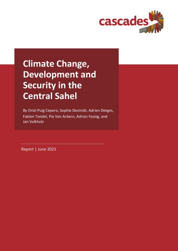 Cover Report Climate Change, Development and Security in the Central Sahel