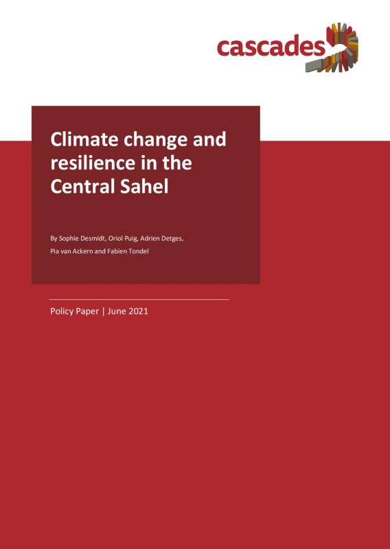 Cover Policy Paper Climate change and resilience in the Central Sahel