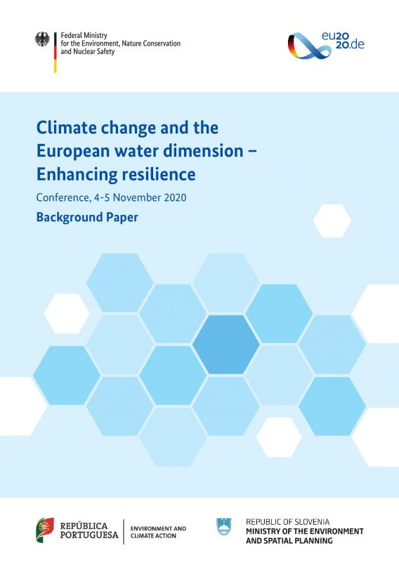 Cover Climate change and the European water dimension – Background Paper
