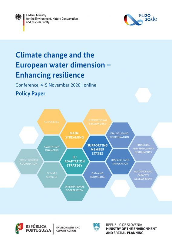 Cover Climate change and the European water dimension – Policy Paper