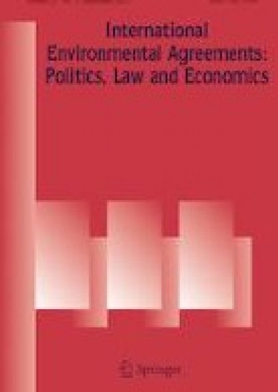 Cover of the journal International Environmental Agreements: Politics, Law and Economics