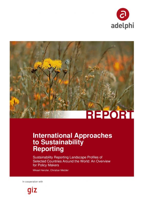 Cover International Approaches to Sustainability Reporting
