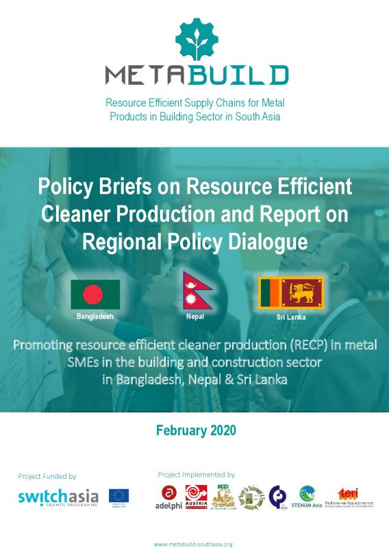 Cover METABUILD Policy Briefs and Report on Regional Policy Dialogue