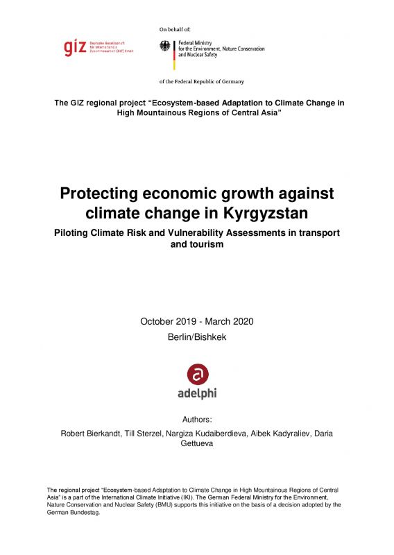 Cover Protecting economic growth against climate change in Kyrgyzstan