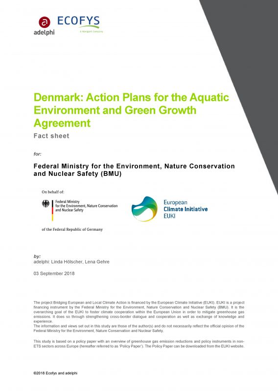 Denmark: Action Plans for the Aquatic Environment and Green Growth Agreement - adelphi - Ecofys