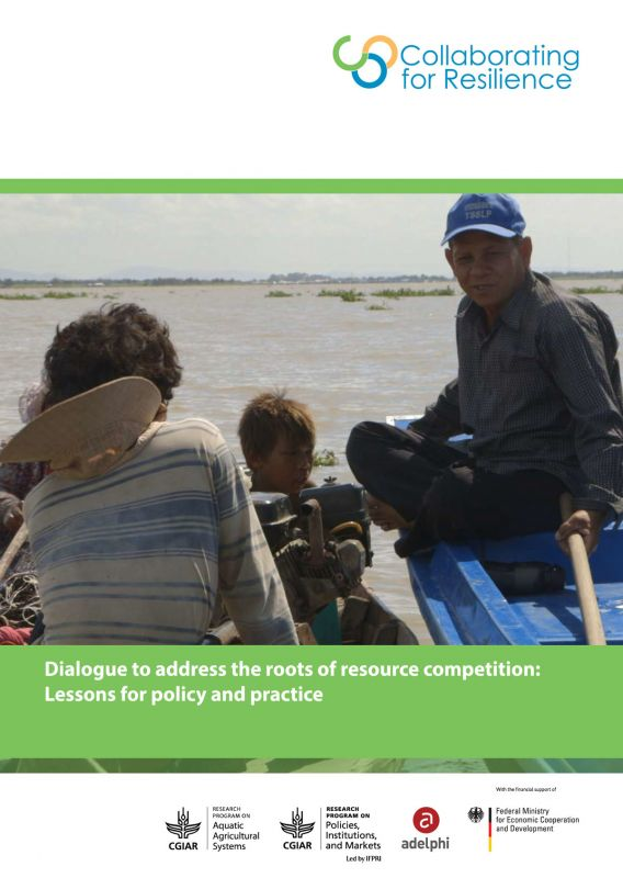 Dialogue to address the roots of resource  competition: Lessons for policy and practice
