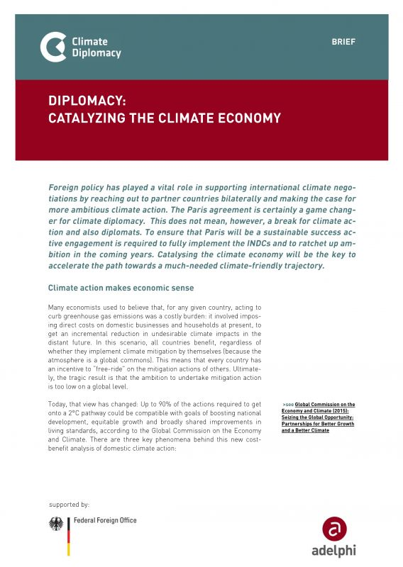Diplomacy: Catalyzing the Climate Economy