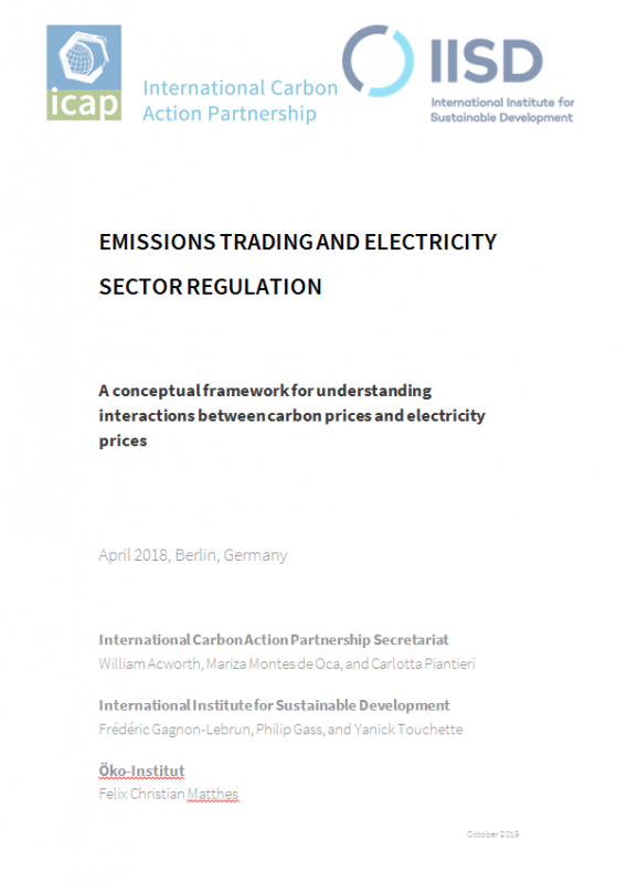 Emissions trading and electricity sector regulation - International Carbon Action Partnership ICAP
