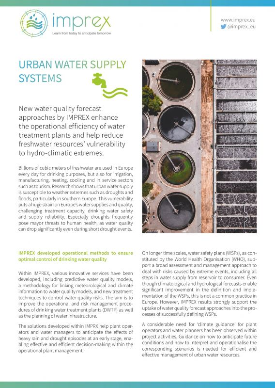Cover Urban water supply systems