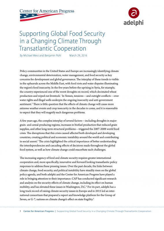 Coverpage Climate Change and Food Security