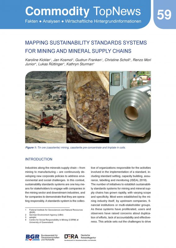 Mapping Sustainability Standards Systems for Mining and Minderal Supply Chains - Comodity TopNews