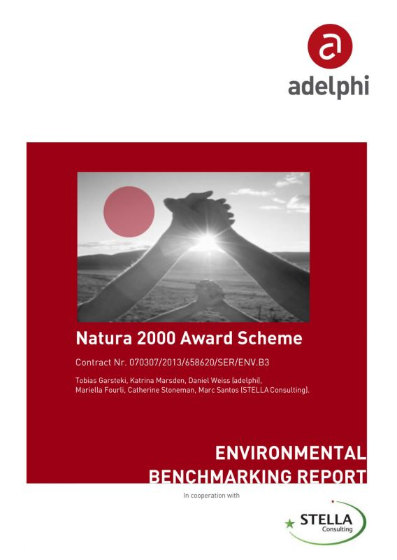 Natura 2000 Award Scheme - Environmental Benchmarking Report