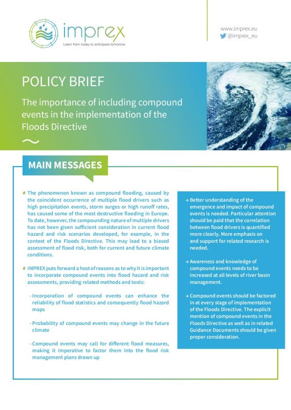 Cover The importance of including compound events in the implementation of the Floods Directive