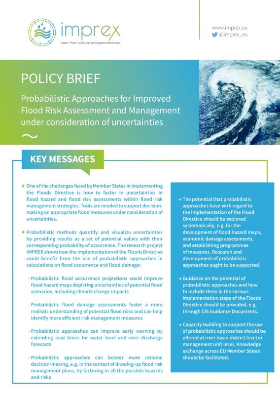 Cover Probabilistic Approaches for Improved Flood Risk Assessment and Management under Consideration of Uncertainties