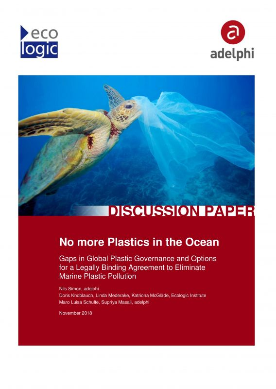 No more Plastics in the Ocean - Gaps in Global Plastic Governance and Options for a Legally Binding Agreement to Eliminate Marine Plastic Pollution