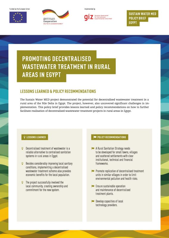Sustain Water MED Policy Brief Egypt