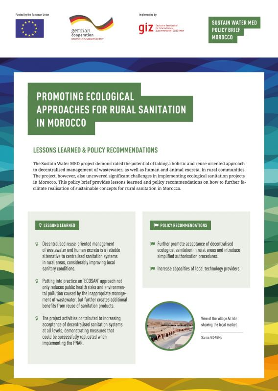 Sustain Water MED Policy Brief Morocco