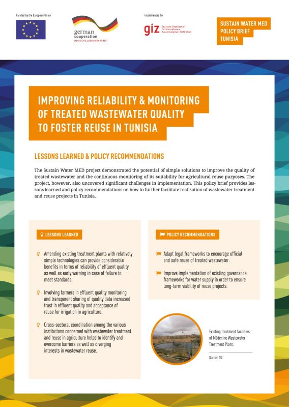Sustain Water MED Policy Brief Tunesia