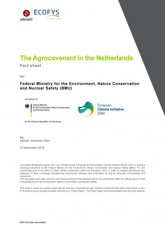 The Agrocovenant in the Netherlands