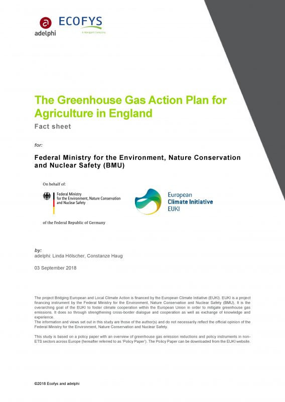 The Greenhouse Gas Action Plan for Agriculture in England - Europäische Klimaschutzinitiative