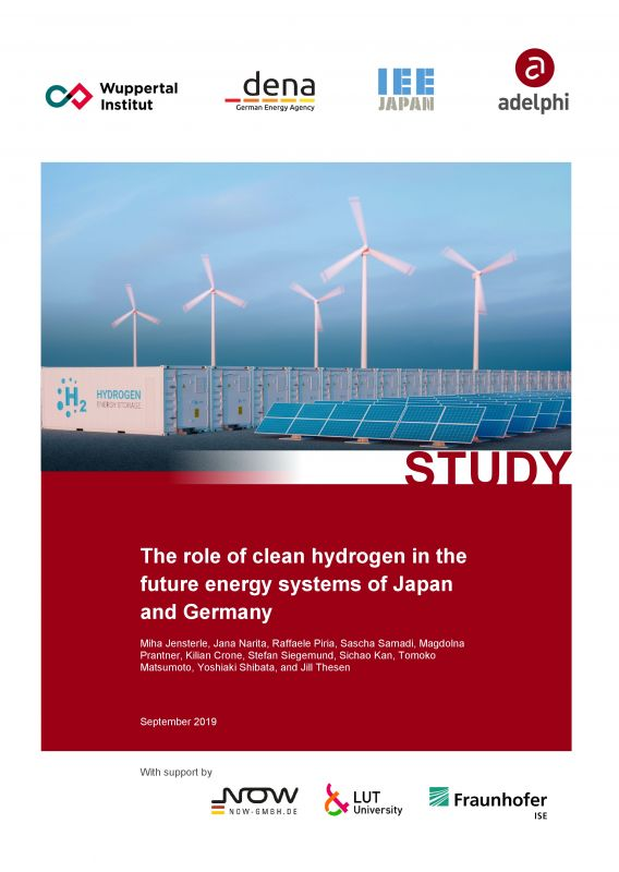 The role of clean hydrogen in the future energy systems of Japan and Germany - Study