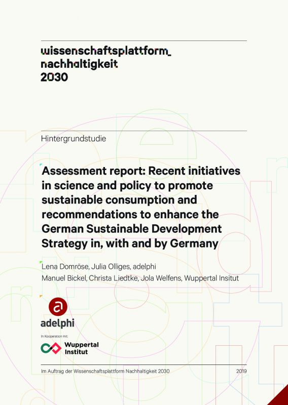 Recent initiatives in science and policy to promote sustainable consumption and recommendations to enhance the German Sustainable Development Strategy in, with and by Germany