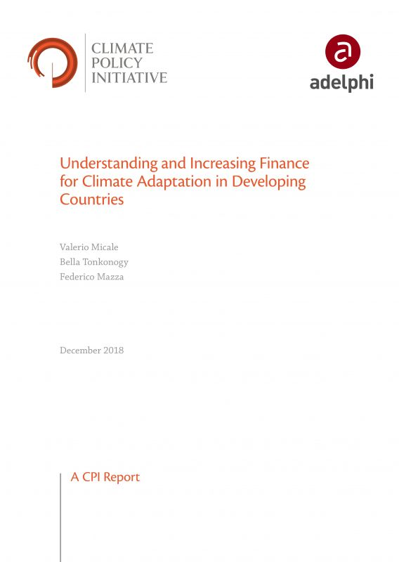 Understanding and Increasing Finance for Climate Adaptation in Developing Countries - CPI adelphi