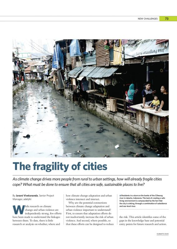 The fragility of cities - climate2020