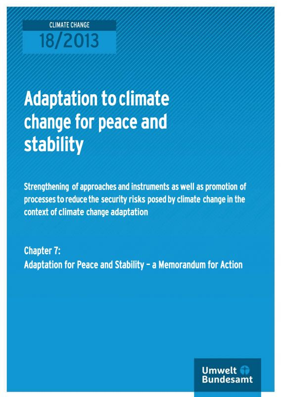 Adaptation for Peace and Stability - a Memorandum for Action