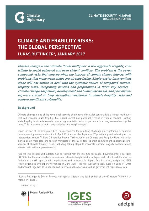 climate diplomacy - climate change and security in Japan - adelphi