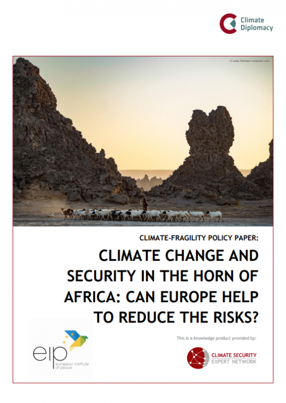 Cover: Climate Change and Security in the Horn of Africa