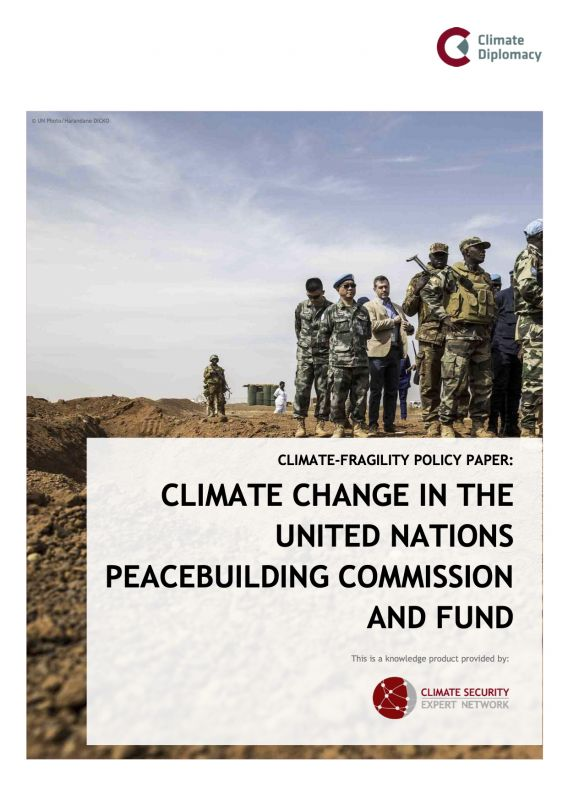 Cover: Climate Change in the UN Peacebuilding Commission and Fund