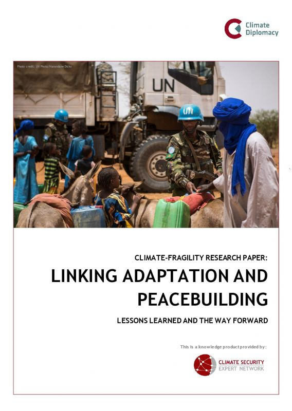Cover: Linking Adaptation and Peacebuilding
