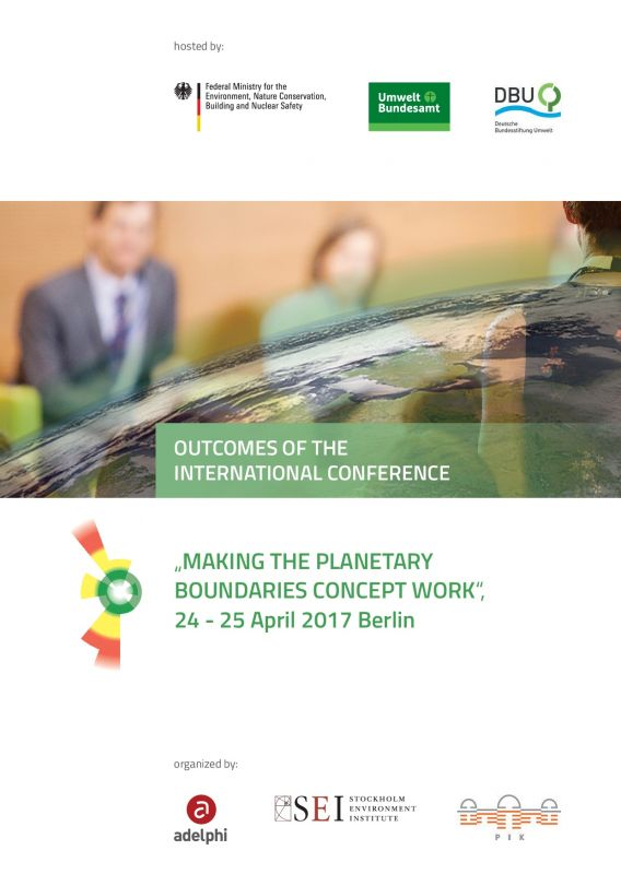 Outcomes Planetary Boundaries Conference - Berlin 2017