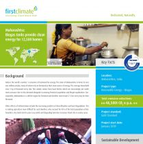 Cover of fact sheet on Indian biogas project
