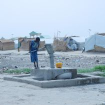 Girl in refugee camp in Chad