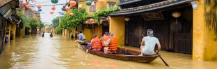 Flooding In Hoi An, The World Heritage Site Of Vietnam. Photo taken at. Hoi An acientown, Quang Nam Province, Vietnam. Date: 06/ 11/ 2017.